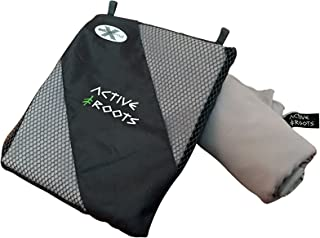 Active Roots Microfiber Travel Towel - Bath, Beach, Yoga or Camping Towel - Lightweight, Absorbent and Quick Dry