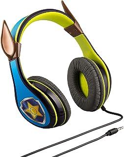eKids Paw Patrol Chase hörlurar för barn med inbyggd volymbegränsningsfunktion för barnvänlig säker lyssning PW-140CH