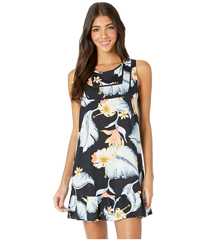 Roxy All About The Sea Cover-Up Dress (Anthracite Tropical Love) Women