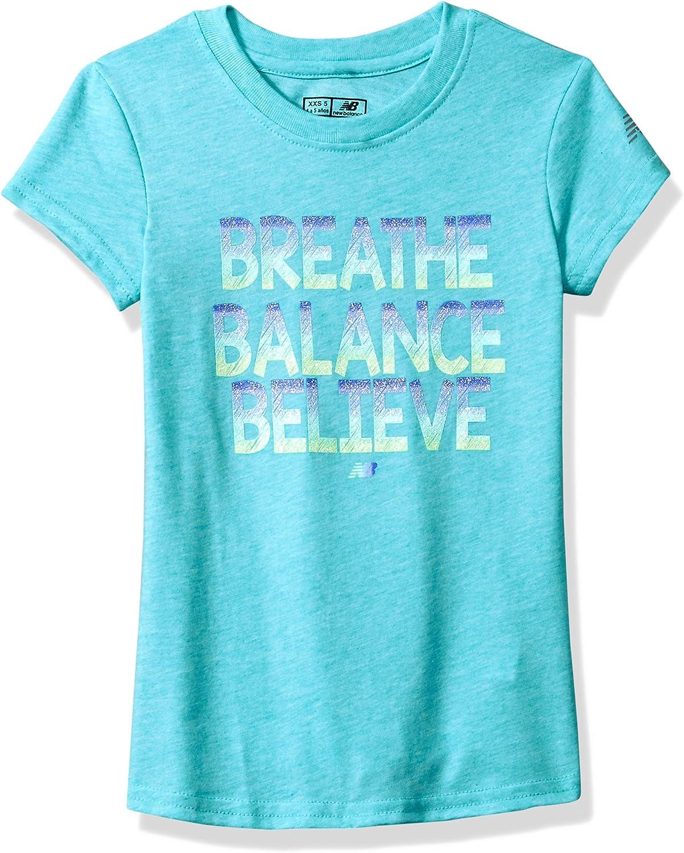 New Balance Girls' Short Max 85% OFF Tee Rare Sleeve Graphic
