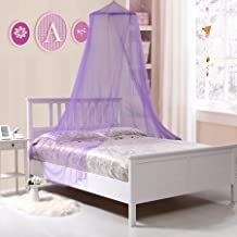Fantasy Kids Collapsible Wire Hoop Bed Canopy, Purple, One Size