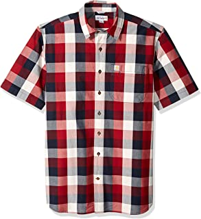 Men's Big and Tall Big & Tall Essential Plaid Open Collar Short Sleeve Shirt
