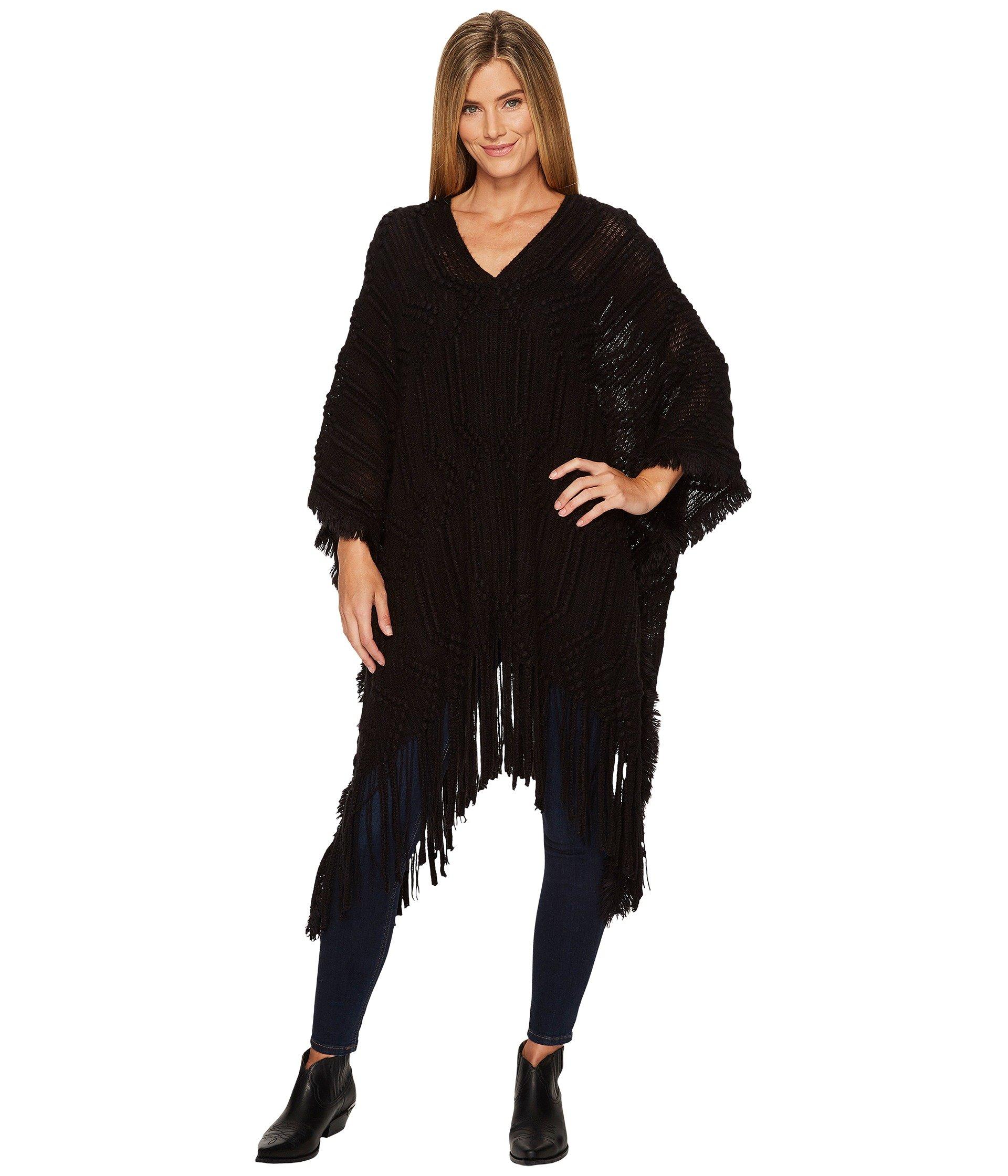 Saco para Mujer Wrangler Textured Sweater Knit Poncho Fringe  + Wrangler en VeoyCompro.net