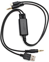 Auxillary Adapter,Yomikoo 3.5mm Connector Car Audio Stereo BMW Mini USB Interface Adapter Cable for BMW X1 X3 X5 1 3 Series Support All 3.5mm aux Port