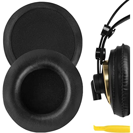 Geekria QuickFit Protein Leather Ear Pads for ÂKG K240 K240S K240 MKII K241 K270 K271 K271S K272 Headphones, Replacement Ear Cushion/Ear Cups/Ear Cover, Headset Earpads Repair Parts (Black)
