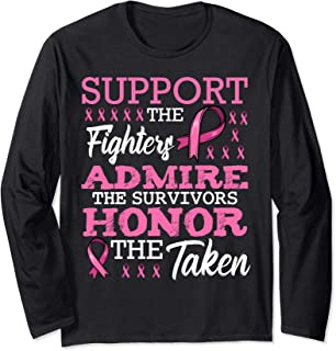 Fight Metastatic Breast Cancer Awareness Month for Women Long Sleeve T-Shirt