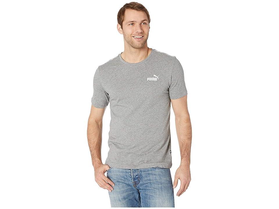 PUMA Amplified Logo Tee (Medium Grey Heather) Men's T Shirt, Gray