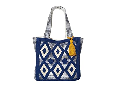 San Diego Hat Company BSB3556 Dharie Tote Bag Small (Blue) Handbags
