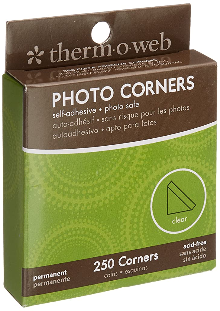 Thermo Web PC250-3870 Photo Corner Boxed, Clear, 250-Pack