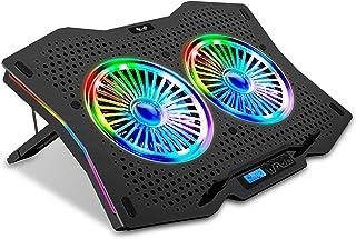 SK Notebook bärbar dator regnbåge RGB kylare gamer-stativ kylplatta underlag kylare för 9–18 tum/fläkt/5–7 nivåer höjdjust...