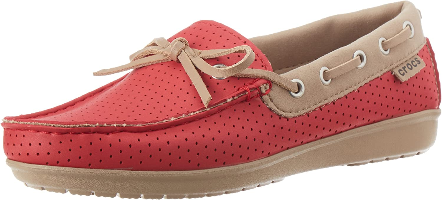 Crocs Womens Wrap colorLite Perforated Loafer shoes