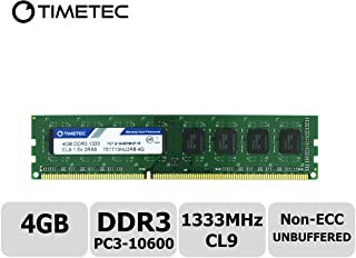 Timetec Hynix IC 4GB DDR3 1333MHz PC3-10600 Unbuffered Non-ECC 1.5V CL9 2Rx8 Dual Rank 240 Pin UDIMM PC Sobremesa Memoria Principal Module Upgrade (4GB)