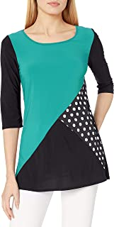 Star Vixen Women's Colorblock Tunic Top