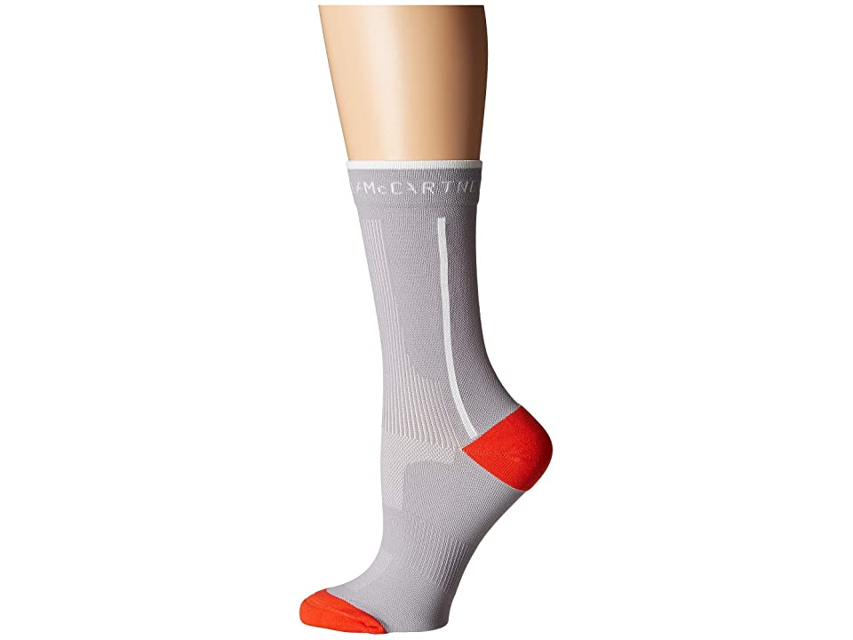 adidas by Stella McCartney Ankle Socks (Pearl Grey/Core White/Bold Orange) Women