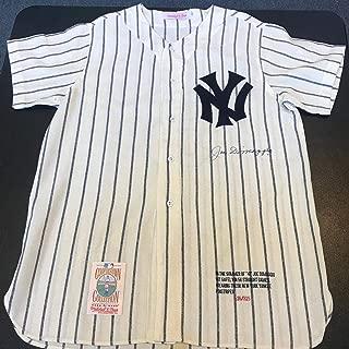 Beautiful Joe Dimaggio Signed 1941 New York Yankees Game Model Jersey PSA DNA