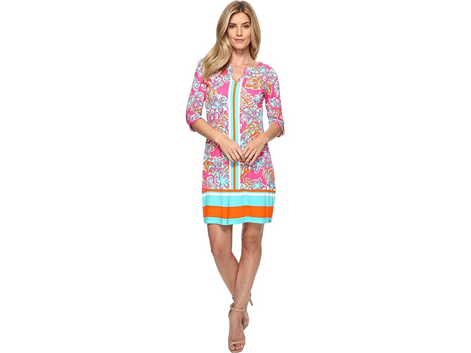 Hatley Peplum Sleeve Dress (Kauai Floral Tropics) Women