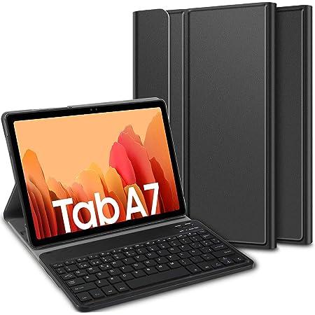 ELTD Teclado Estuche para Samsung Galaxy Tab a7 10.4 2020,[Español, con la tecla (ñ)], Protectora Cover Funda con Desmontable Wireless Teclado para ...