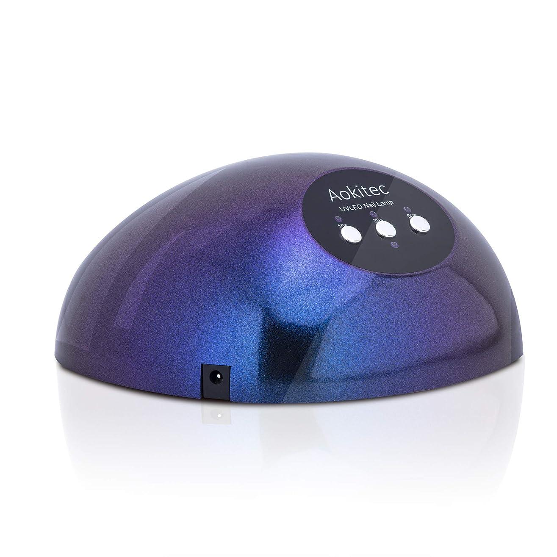 旋律的マルクス主義爪48W LED UVネイルライト ダブル光源ライト 高速硬化用UVライト オートセンサーとタイマー機能付ネイルランプ 大空間 すべてのジェルネイルとレジン液対応ネイルドライヤー 【日本語説明書付き】