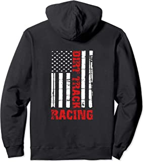 Dirt Track Racing American Flag Hoodie Race Car Racecar