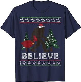 Sasquatch Santa Ugly Tee Shirt Yeti Xmas Bigfoot T-Shirt
