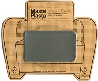 MastaPlasta Grey Self-Adhesive Leather Repair Patches. Choose Size/Design. First-Aid for Sofas, Car Seats, Handbags, Jackets etc.