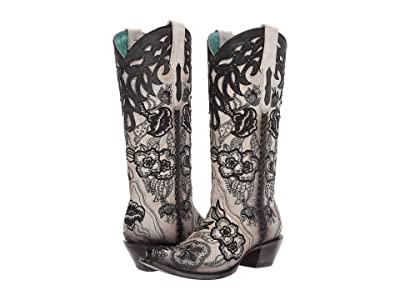 Corral Boots C3566 (White/Black) Women