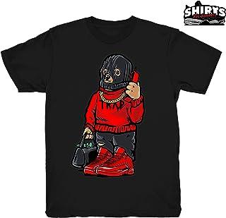 93783a633fc Gym Red 12 Trap Bear Shirt to Match Jordan 12 Gym Sneakers Black t-Shirts
