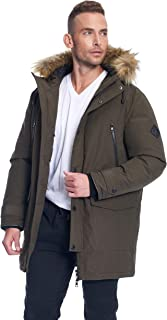 Alpine North Mens Vegan Down Drawstring Winter Jacket