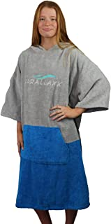 Parallaxx All Weather Surf Poncho Changing Robe   Water Wind Proof Thick Warm Cotton Wetsuit Robe for Surfing Scuba Wake K...