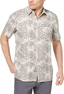 Tasso Elba Island Men's Leaf Medallion-Print Shirt