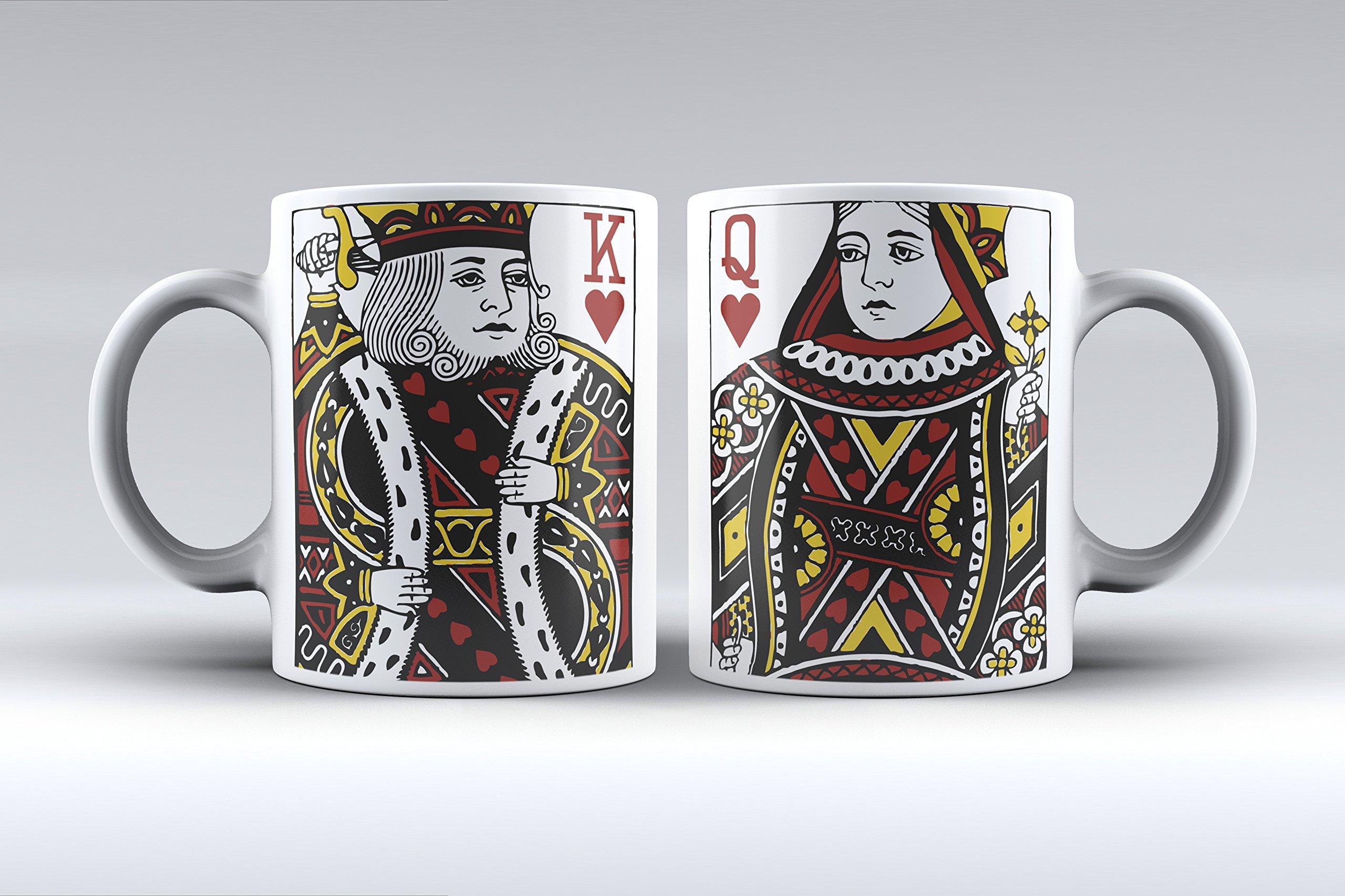 APRIL Pack 2 Tazas ilustración Rey y Reina de Corazones Decorada ...