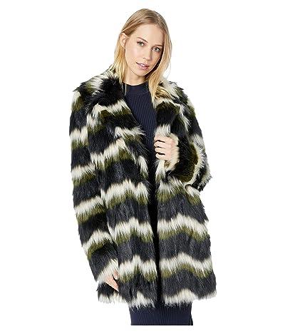 Show Me Your Mumu Raymond Jacket (Zigzag Faux Fur Olive) Women