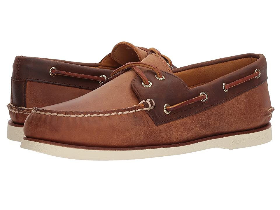 Sperry Gold A/O 2-Eye Roustabout (Tan/Brown) Men