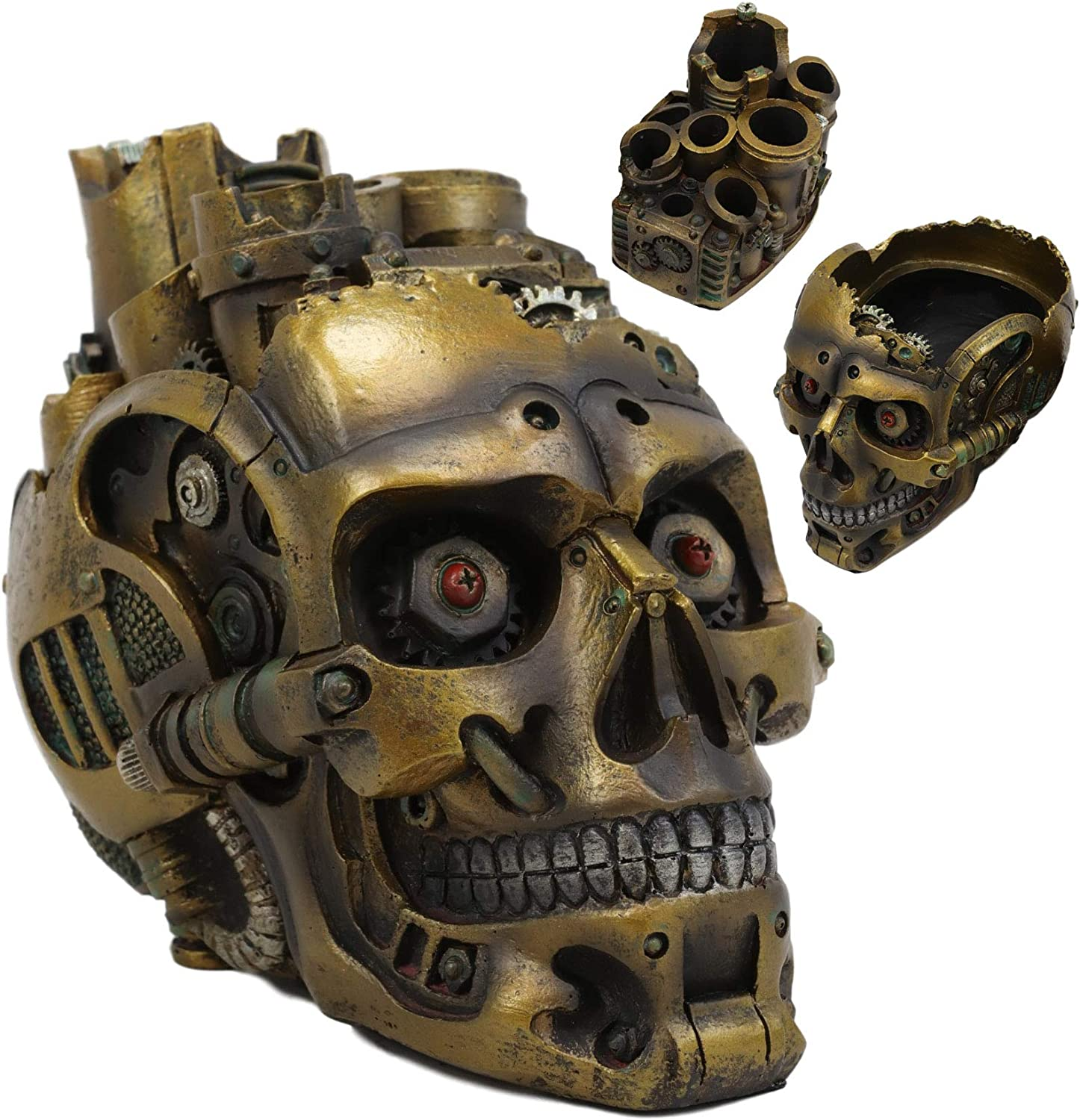 Outlet ☆ Free Shipping Ebros Gift Mad Max Steampunk Popularity Cyborg Box Skull Decorative Robotic