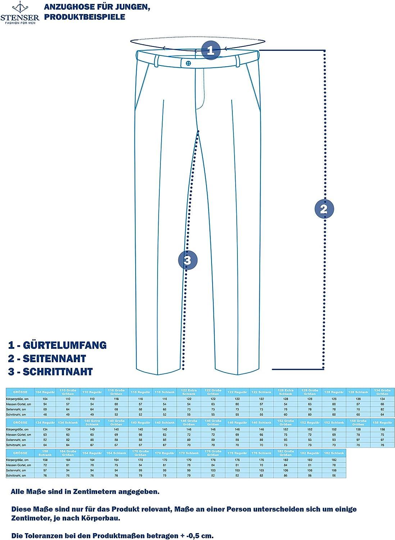 Blau STENSER B42A Jungen Anzughose Schuluniform Elastische Taille