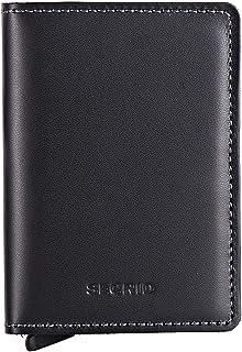 محفظة جلدية نحيفة من الجلد باللون الأسود، حافظة بطاقات آمنة لهاتف rfid, , أسود - SLIM WALLET SO BLACK