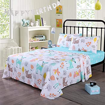 Lacey Damask, King 4 Piece Wrinkle Printed Bed Sheet Set Full Brushed Microfiber Floral Bedding Sheets Kids//Girls//Boys- Deep Pocket Stain Resistant Fade Hypoallergenic