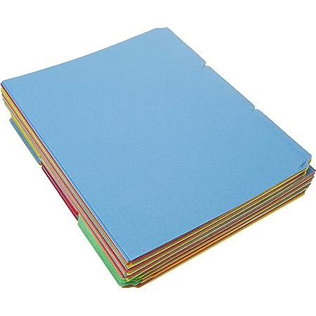 Amazon Basics File Folders - Letter Size (100 Pack) – Assorted Colors
