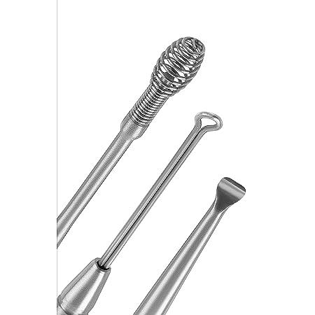 Leeofty 6 in 1 Ohrreinigungsset,Tragbarer Ohrreiniger,Ohrenschmalzentferner Aus Edelstahl,spiralohrreinigungswerkzeug mit Aufbewahrungsbox,Ohrenreiniger f/ür Menschheit