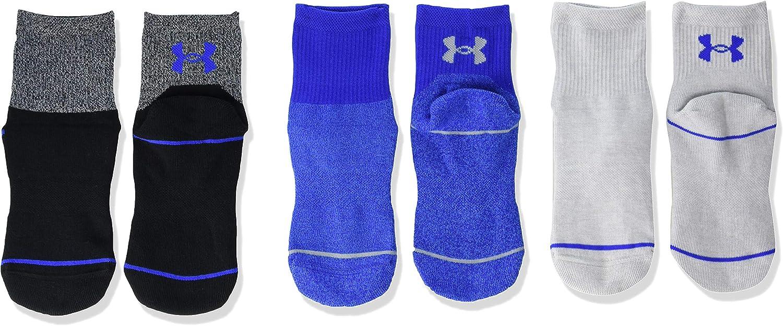 Under Armour Youth Phenom Quarter Socks, 3-pairs