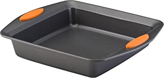 Rachael Ray Yum -o! Nonstick Bakeware Baking Pan / Nonstick Cake Pan, Square - 9 Inch, Gray
