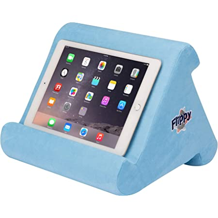 The Original Flippy Multi-Angle Soft Pillow Lap Stand for iPads, Tablets, eReaders, Smartphones, Books, Magazines (Blue Skies)