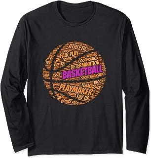 Basketball Sayings Team Gift Kids or Girls Long Sleeve Shirt