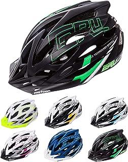 meteor® Casco Bicicleta Helmet de Bici para jóvenes y Adultos para Ciclismo MTB Road Race Montaña BMX Carretera y Otras Formas de Actividad Ciclista Casco Protección Gruver