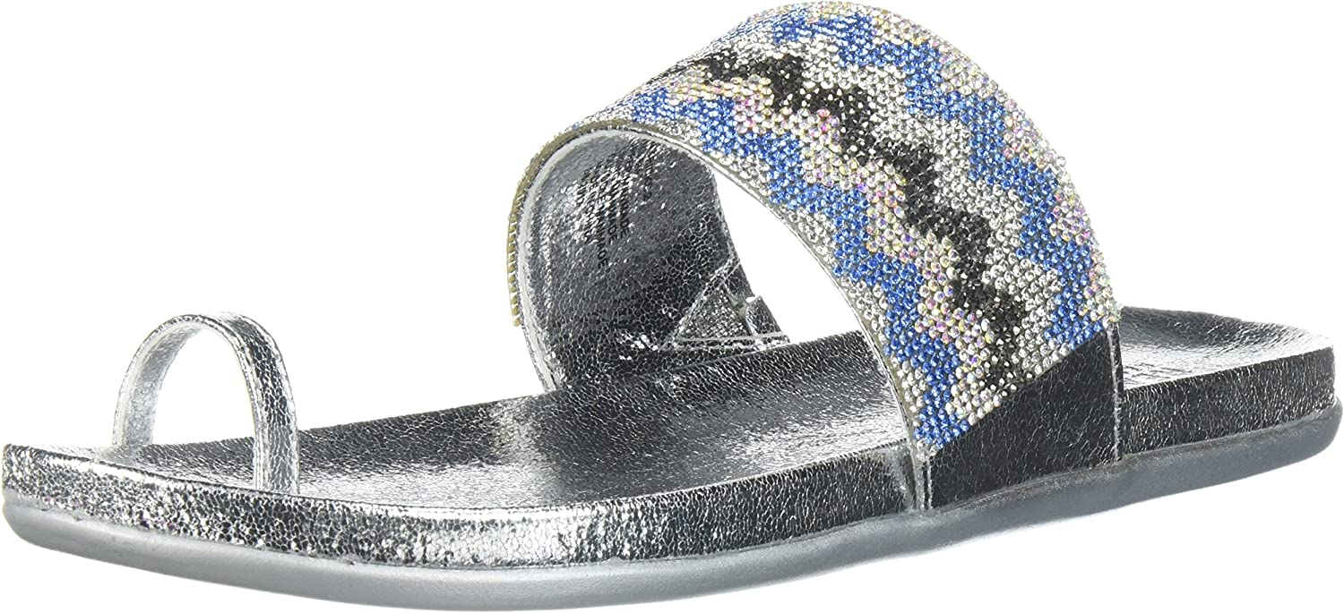 Kenneth Cole REACTIONRL07467MT - Slim Tricks 2 Toe Ring, Sandale Damen, Silber (Silber Multi), 34 EU