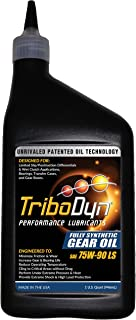 TriboDyn 75w90 Synthetic Limited Slip Gear Oil 1 US Quart - Premium Full Synthetic Oil + Patented Additives - Lower Gearbox Temperatures - Incredible Cling Rate - Extreme Shock and Load Protection