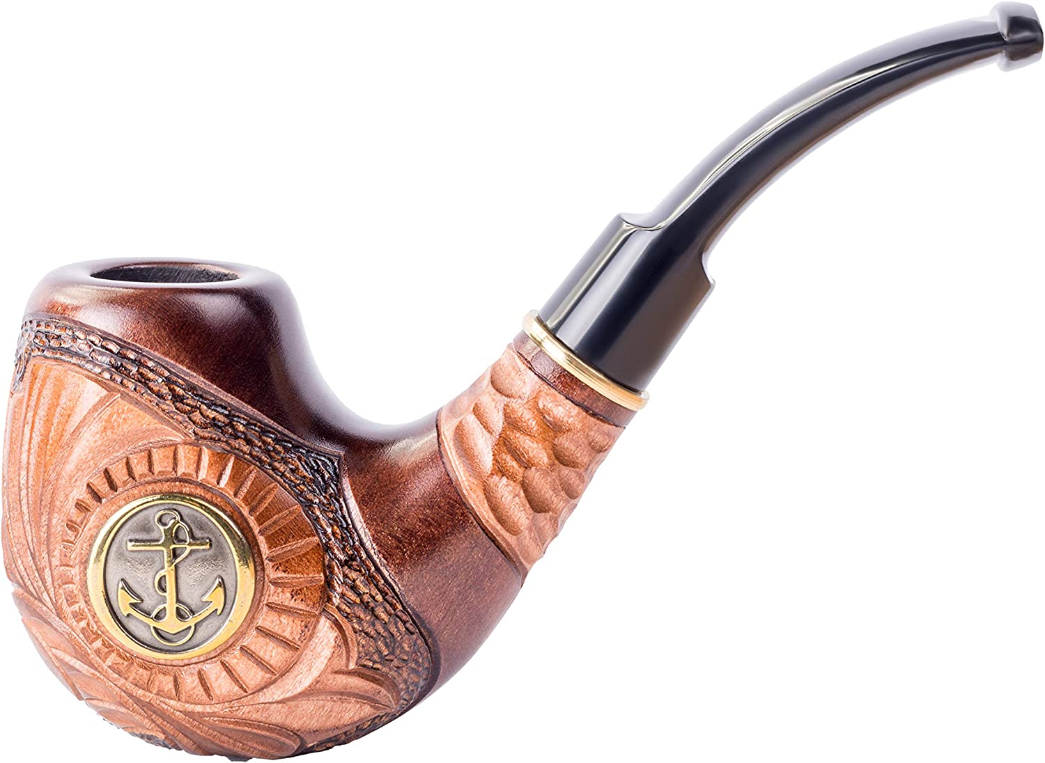 Dr. Watson - Wooden Tobacco 5 ☆ popular shopping Smoking 9mm Carved Hand Pipe Fits