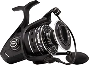 Penn Pursuit III Spinning Fishing Reel, Black/Silver, 8000