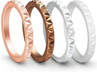stackable silicone wedding bands