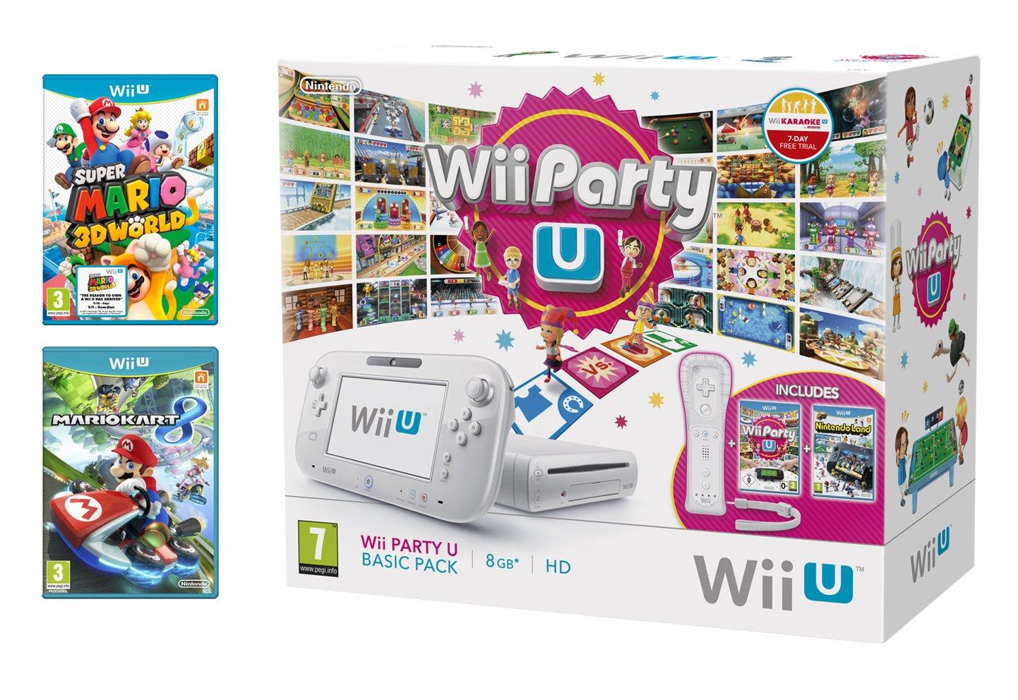 Nintendo Wii U 8Gb Party Pack With Mario Kart 8 And Super Mario 3D World (Nintendo Wii U) [Importación Inglesa]: Amazon.es: Videojuegos